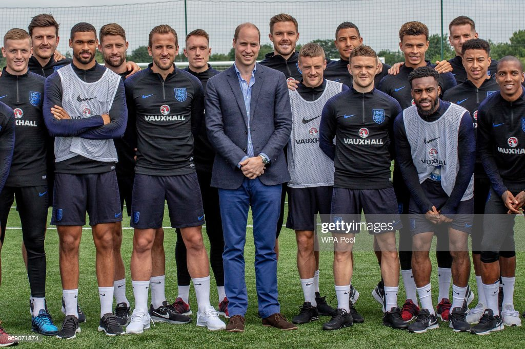 The Duke Of Cambridge Meets The England Football Squad Ahead Of The 2018 Fifa World Cup