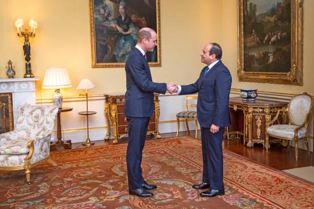 GBR: The Duke Of Cambridge Hosts Egyptian President Abdel Fattah el-Sisi