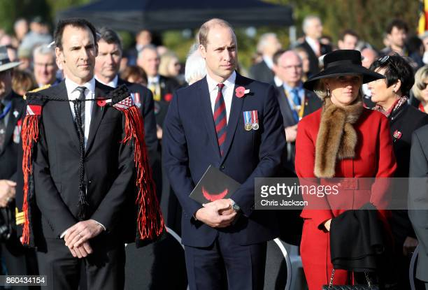 Prince William Duke of Cambridge representing Her Majesty The Queen Princess Astrid of Belgium and guests attend the New Zealand Commemoration for...