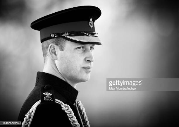 Prince William Duke of Cambridge represents Her Majesty The Queen as the Reviewing Officer during The Sovereign's Parade at the Royal Military...