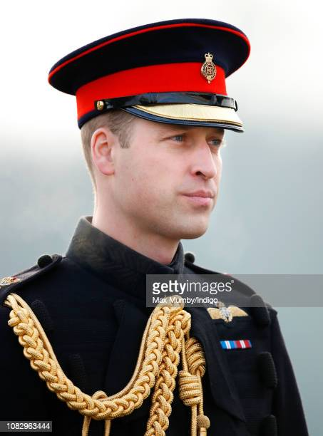 Prince William, Duke of Cambridge represents Her Majesty The Queen as the Reviewing Officer during The Sovereign's Parade at the Royal Military...