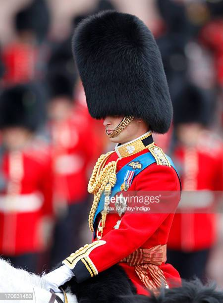 Prince William, Duke of Cambridge returns to Buckingham Palace on horseback during the annual Trooping the Colour Ceremony on June 15, 2013 in...