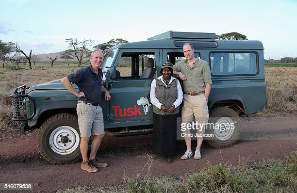 Prince William, Duke of Cambridge, Royal Patron of Tusk and President of United For Wildlife, is joined by Kenya's Minister of Environment, Judy...