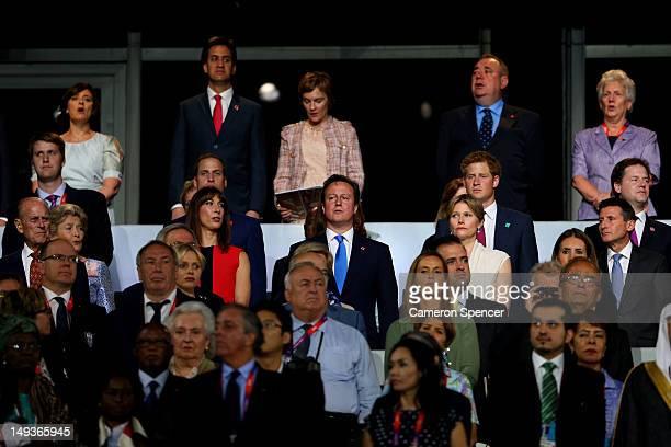 Prince William Duke of Cambridge Samantha Cameron Catherine Duchess of Cambridge British Prime Minister David Cameron Nick Clegg Leader of the...