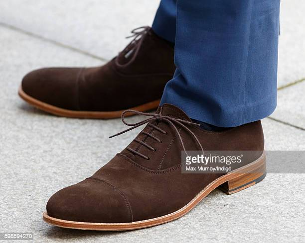Prince William Duke of Cambridge shoe detail visits Truro Cathedral on September 1 2016 in Truro England