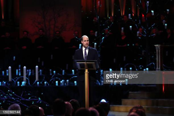 Prince William Duke of Cambridge speaks during the UK Holocaust Memorial Day Commemorative Ceremony in Westminster on January 27 2020 in London...