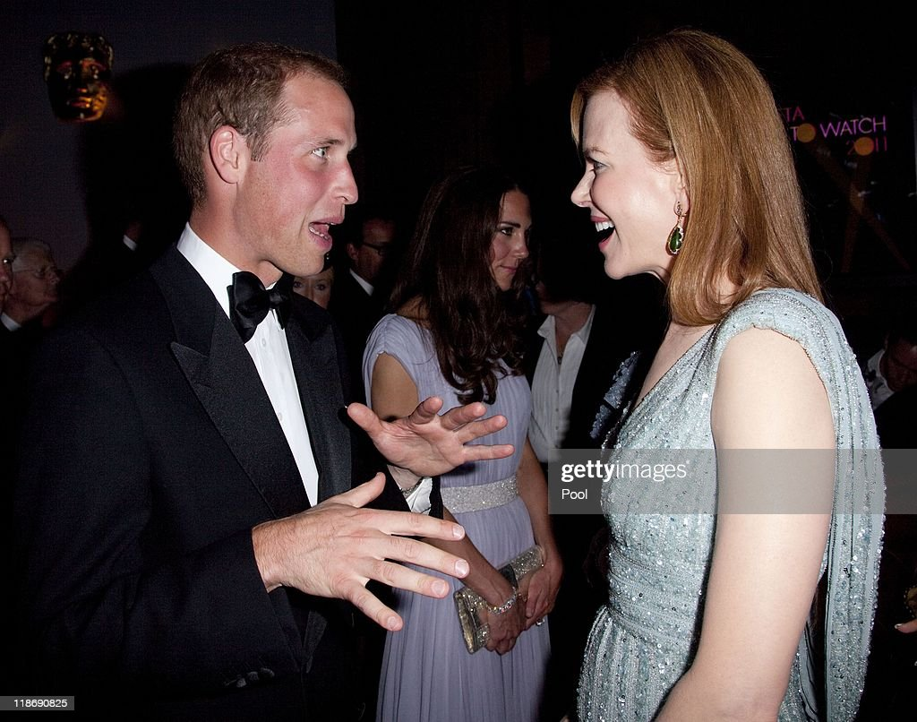 Prince William, Duke of Cambridge speaks to Nicole Kidman at the 2011 BAFTA Brits To Watch Event at the Belasco Theatre on July 9, 2011 in Los Angeles, California. The newlywed Duke and Duchess of Cambridge were in attendance on the ninth day of their first joint overseas tour visiting Canada and the United States.