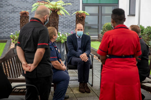 GBR: The Duke Of Cambridge Visits The Royal Marsden Hospital To Mark Construction Of Cancer Centre