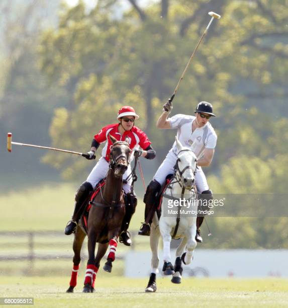 Prince William, Duke of Cambridge takes part in the Audi Polo Challenge at Coworth Park Polo Club on May 7, 2017 in Ascot, England.