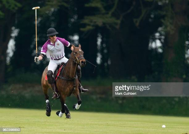 Prince William Duke of Cambridge takes part in The Jerudong Park Polo Day at Cirencester Park Polo Club on May 25 2018 in Cirencester England