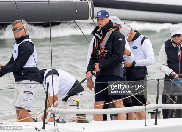 Prince William Duke of Cambridge takes part in The Kings Cup Regatta on August 8 2019 in Cowes England