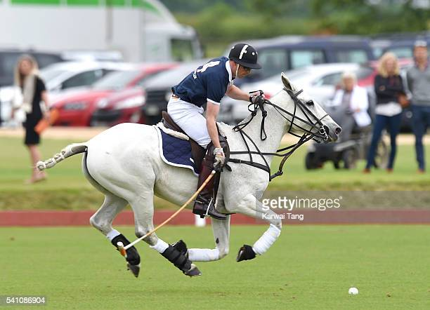Prince William Duke of Cambridge takes part in the Maserati Royal Charity Polo Trophy during the Gloucestershire Festival of Polo at Beaufort Polo...