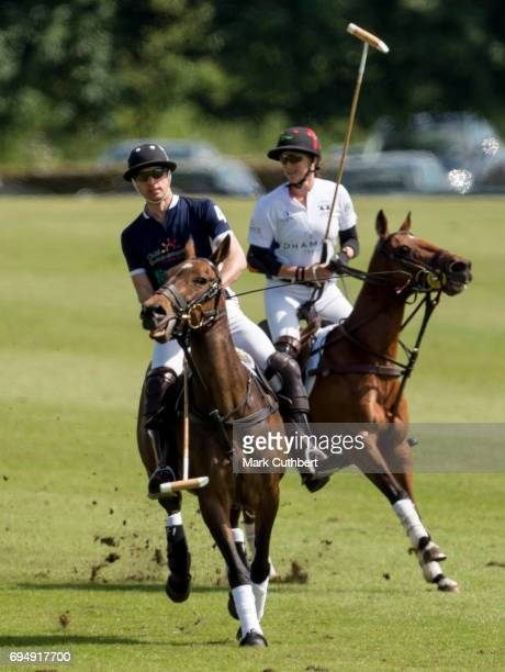 Prince William Duke of Cambridge taking part in The Maserati Royal Polo Trophy match during The Gloucestershire Festival of Polo at Beaufort Polo...