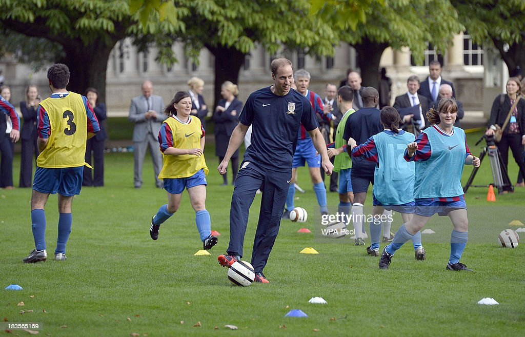 Buckingham Palace Hosts Its First Football Match To Celebrate 150 Years Of The Football Association : News Photo