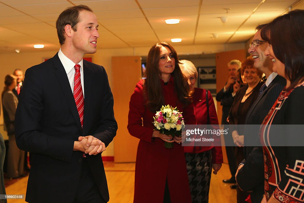 Prince William, Duke of Cambridge (L) Vice Patron of the Welsh Rugby Union and Catherine, Duchess of Cambridge (C) attend the Autumn International rugby match between Wales and New Zealand at the Millennium Stadium, Cardiff on November 24, 2012 in Cardiff, Wales.