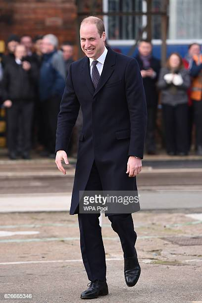 Prince William Duke of Cambridge visits Bombardier Transportation where he looked at Crossrail carriage assembly lines for trains destined to run on...