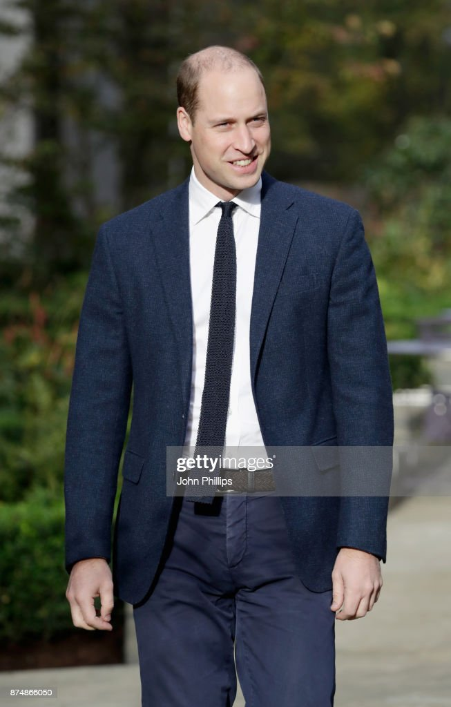 Prince William, Duke of Cambridge visits Google & YouTube to launch a National Action Plan to tackle cyberbullying on November 16, 2017 in London, England.