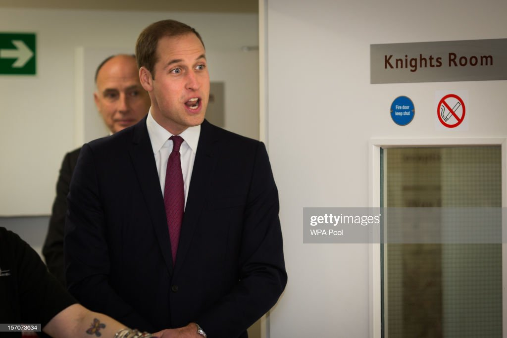 Prince William, Duke of Cambridge visits 'Jimmy's', a night shelter, with Catherine, Duchess of Cambridge, on November 28, 2012 in Cambridge, England.