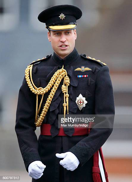 Prince William Duke of Cambridge visits Keogh Barracks to present British Army Medics of 22 Field Hospital with the Government Ebola Medal for...