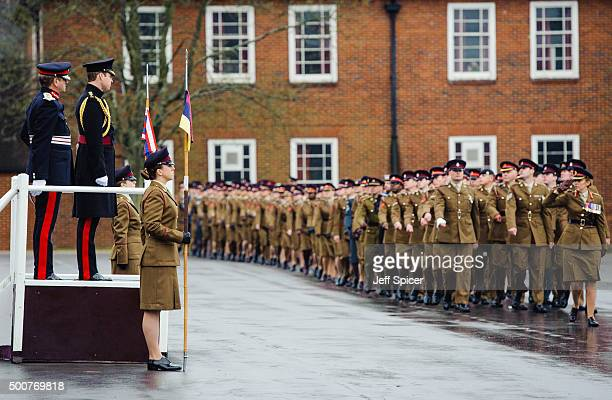 Prince William Duke of Cambridge visits Keogh Barracks to present medals to British Army Medics on December 10 2015 in Aldershot England