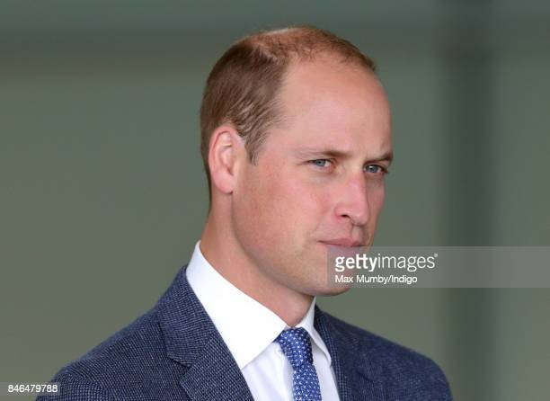 Prince William Duke of Cambridge visits McLaren Automotive at the McLaren Technology Centre on September 12 2017 in Woking England