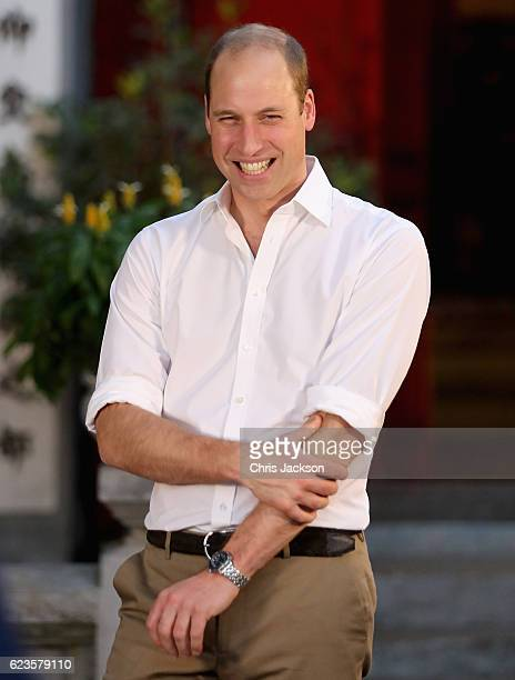 Prince William Duke of Cambridge visits Ngoc Son Temple during a two day visit to Vietnam on November 16 2016 in Hanoi Vietnam The Duke is in Vietnam...