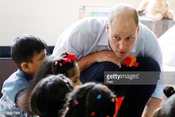 Prince William Duke of Cambridge visits SOS Children's village during their royal tour of Pakistan on October 17 2019 in Lahore Pakistan