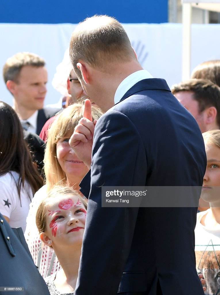 Prince William, Duke of Cambridge visits Strassenkinder, a charity which supports young people from disadvantaged backgrounds and also meets representatives from the Robert Enke Foundation on day 3 of the Royal Tour of Poland and Germany on July 19, 2017 in Berlin, Germany.
