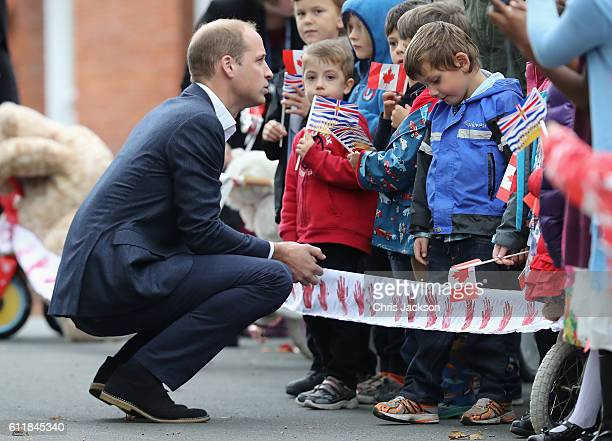 Prince William Duke of Cambridge visits the Cridge Centre for the Family on the final day of their Royal Tour of Canada on October 1, 2016 in...