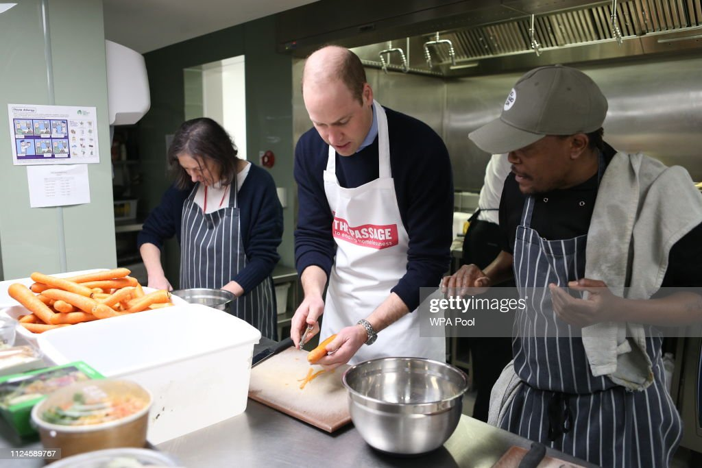 The Duke Of Cambridge Visits The Passage : News Photo