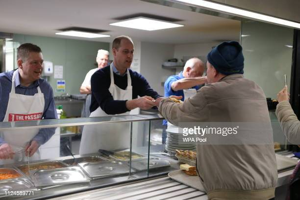 Prince William Duke of Cambridge visits the Passage which is the UK's largest resource centre for homeless and insecurely housed people on February...