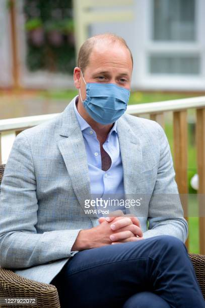 Prince William Duke of Cambridge visits the Shire Hall Care Home where they spoke to some of the home's staff residents and their family members on...