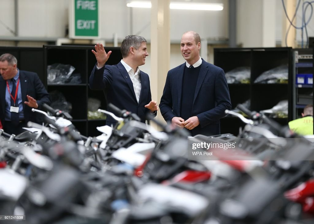 The Duke of Cambridge Visits Triumph Motorcycles
