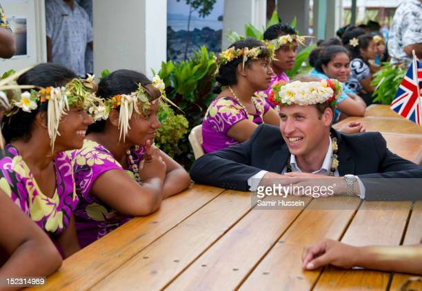 Prince William Duke of Cambridge visits the University of the South Pacific during the Royal couple's Diamond Jubilee tour of the Far East on...