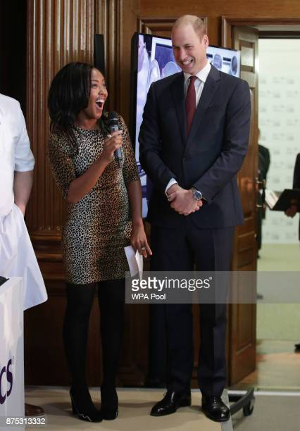 Prince William, Duke of Cambridge with Angellica Bell during the launch of LandAid's Pledge150 campaign, at the RICS on November 17, 2017 in London,...