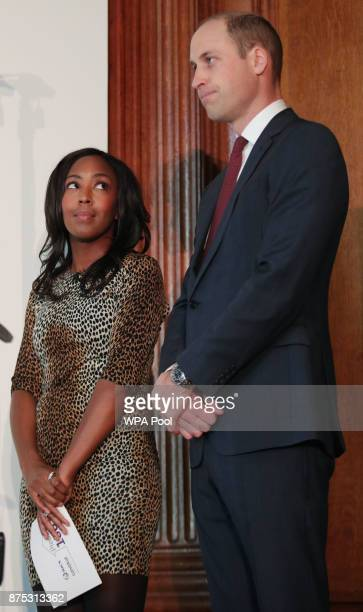 Prince William Duke of Cambridge with Angellica Bell during the launch of LandAid's Pledge150 campaign at the RICS on November 17 2017 in London...