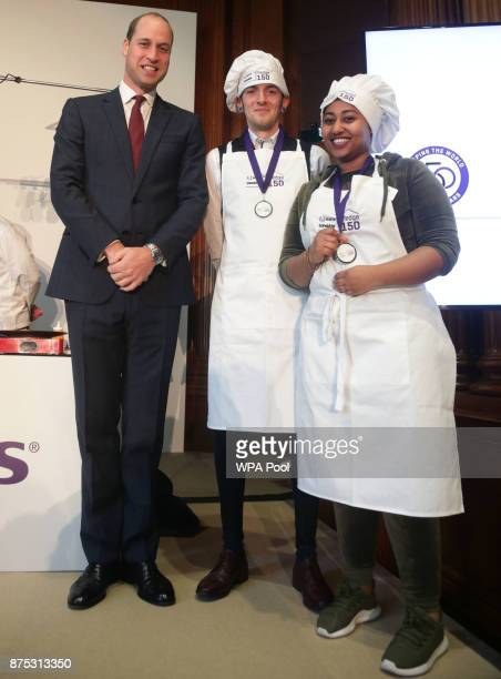 Prince William Duke of Cambridge with beneficiaries of the charity Sean Marsay and Rihana Senay during the launch of LandAid's Pledge150 campaign at...