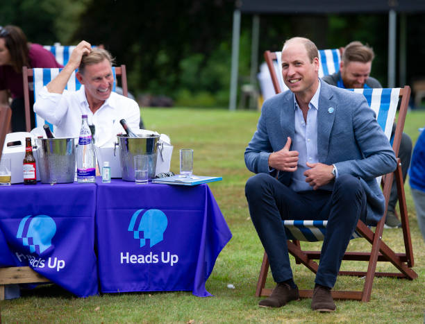 GBR: Duke of Cambridge Hosts Outdoor Screening Of The FA Cup Final