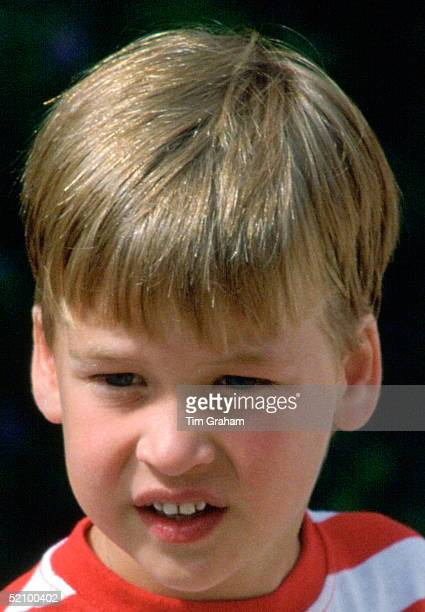 Prince William During A Photocall At The Marivent Palace Whilst On Holiday With The Spanish Royal Family