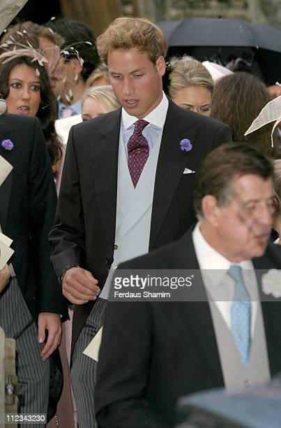 Prince William during Tom Parker Bowles And Sara Buys Wedding at St Nicholas Church in Rotherfield Greys Great Britain