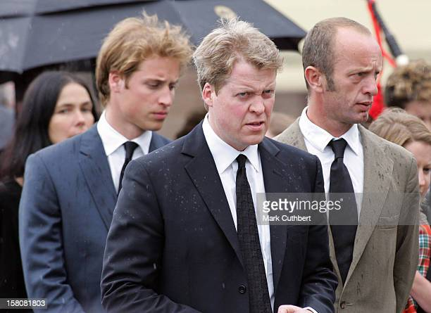 Prince William Earl Spencer Attend The Funeral Of Frances Shand Kydd At St Columba'S Cathedral In Oban Scotland