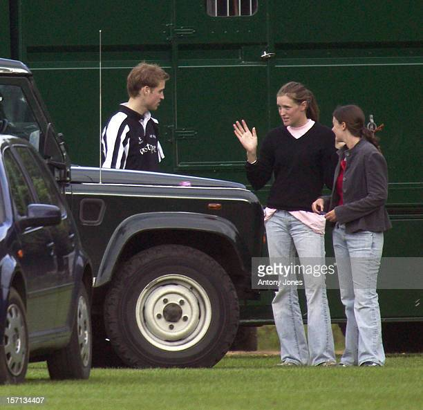 Prince William Entertains Two Girls With Jokes Stories At A Polo Match At Cirencester Park Polo Club