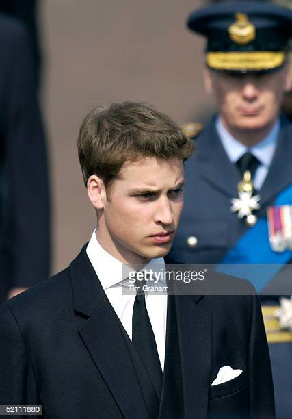 Prince William Following The Coffin Of The Q Mother On The Mall As It Is Taken To Westminster Hall Where It Will Lie In State Till The Funeral