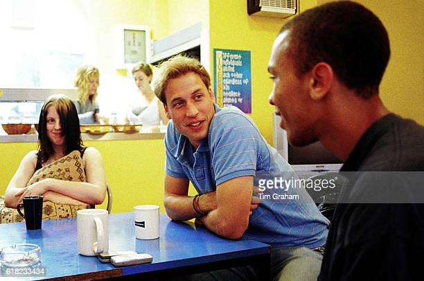 OCTOBER 2005*** Prince William follows in his mother's footsteps as he speaks to young people during a volunteer visit to homeless charity...