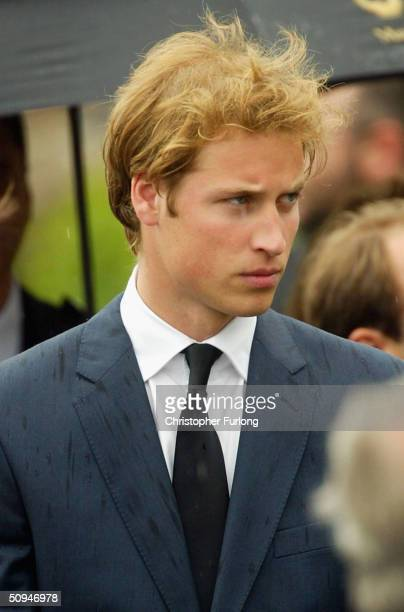 Prince William follows the coffin of his grandmother Frances Shand Kydd at the Cathedral of Saint Columba on June 10 2004 in Oban Argyll Bute...