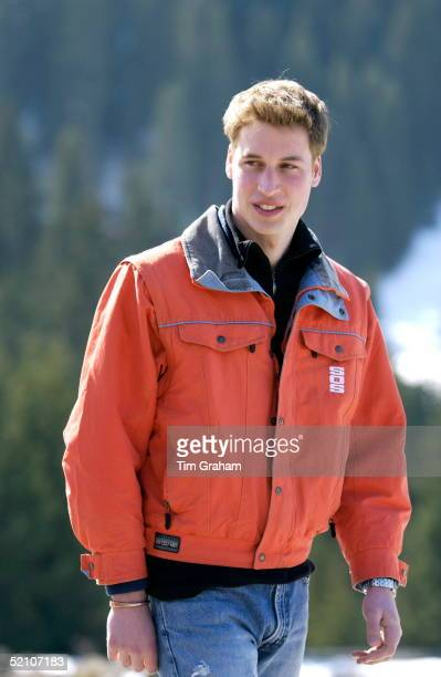 Prince William Halflength Portrait At The Start Of His Annual Skiing Holidays