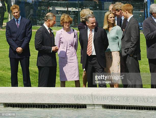 Prince William HRH Prince Charles Lady Sarah McCorquodale the RT Hon Jack McConnell first minister of Scotland Countess Spencer Earl Spencer and...