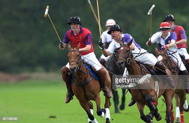 Prince William In A Polo Match At Cirencester Park Polo Club He Played In The Highgrove Team For The King Constantine Trophy In A Charity Match To...