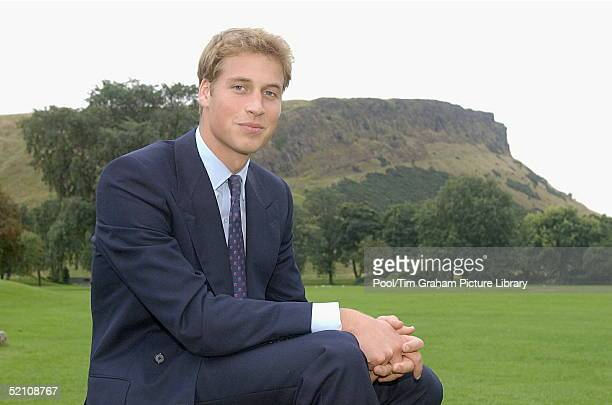 Prince William In A Quiet Moment At The Palace Of Holyrood House In Scotland Prior To Starting His University Career