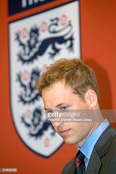 Prince William in his new role as President of the Football Association attends the FA Cup Final at the Millennium Stadium on May 13 2006 in Cardiff...